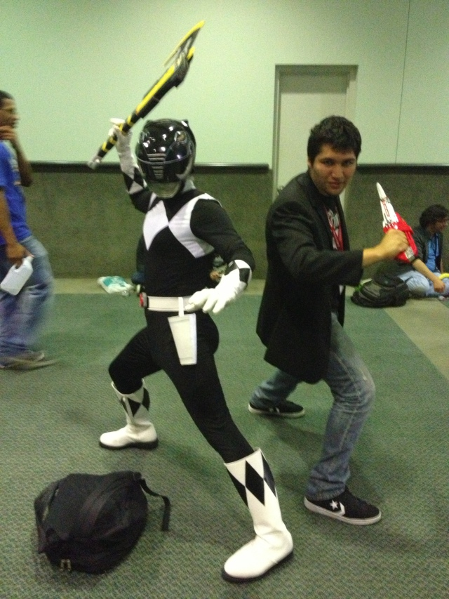 Sadly, not as the Black Ranger but the guy next to him.